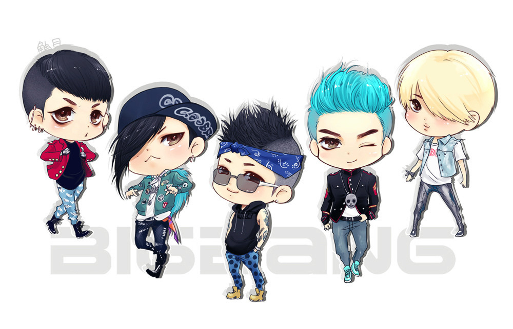 BIGBANG for 'Bad Boy' MV Fanart Credit: moonjjj@weibo