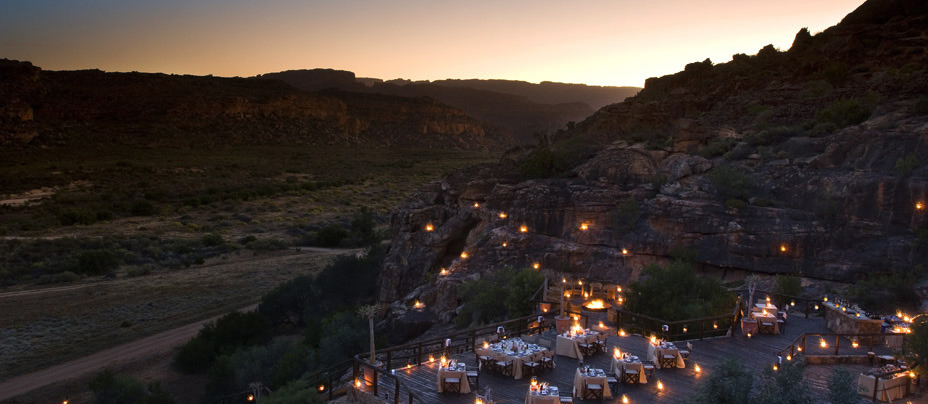 Big Congrats for Bushmans Kloof in South Africa's spectacular Cederburg Mountains in the Western Cape for being named on CNTraveller's Gold List 2012 as the Best African Hotel for Food! We also happen to share such views on Bushman's stellar gourmet reputation as well as the mesmerising setting of its outdoor Boma. That really is dining al fresco and in the wild!  http://www.jacadatravel.com/Hotel/674/bushmans_kloof_reserve