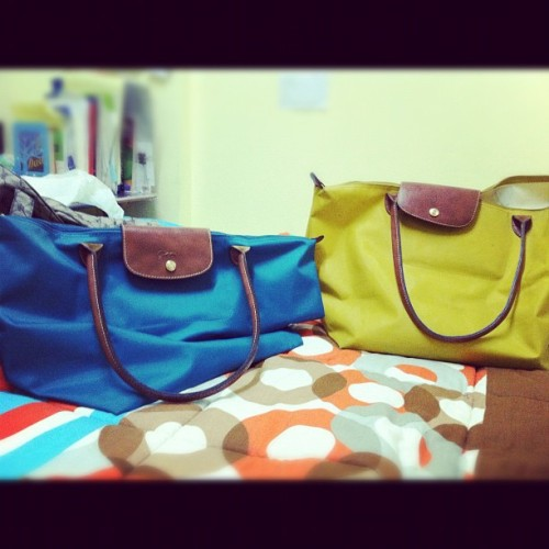 Got my new LC bag already! Yeey two na LC koww. (: so excited to use it na.  (Taken with instagram)