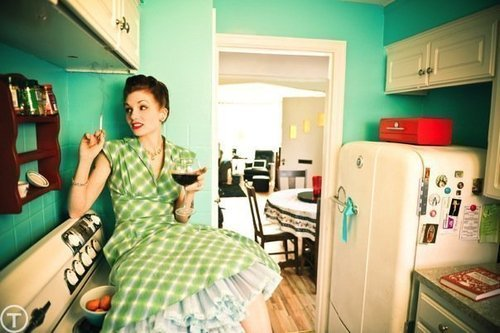 This'd be me as a 40s house wife.