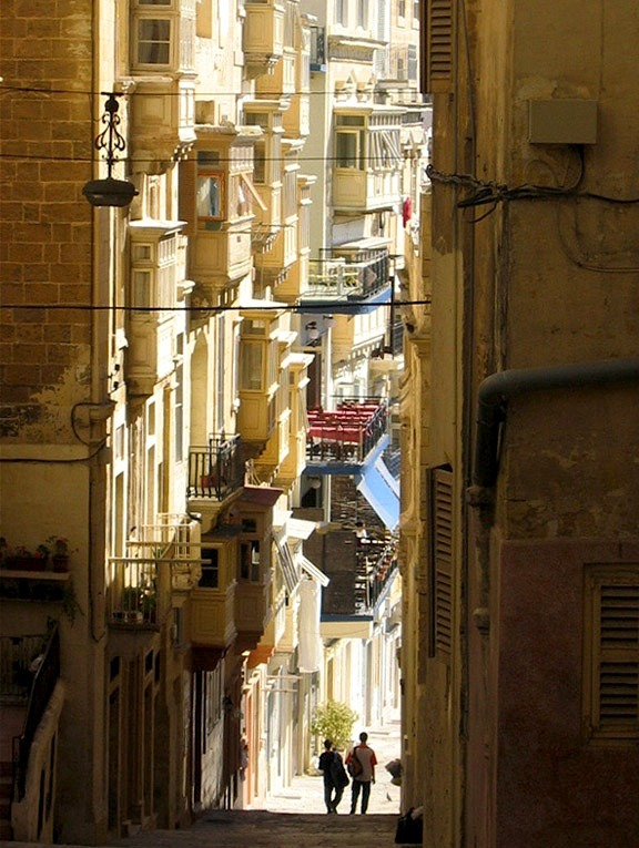 | ♕ |  Mediterranean lights in Valletta, Malta  | by © Samoano