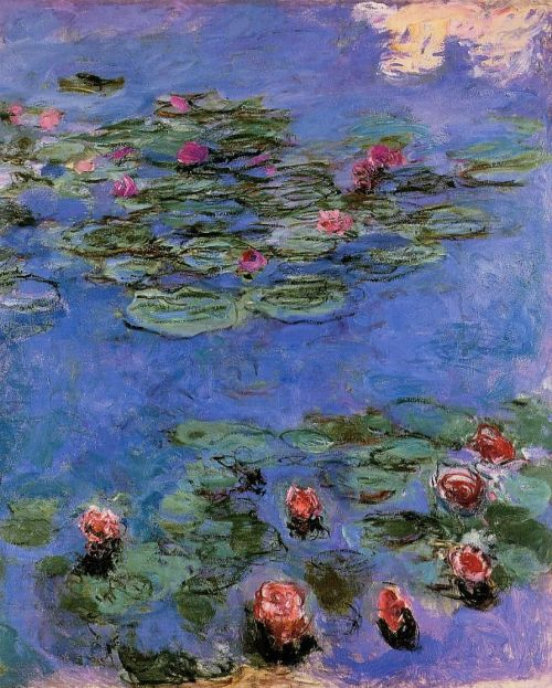 artpedia:  Claude Monet - Red Water Lilies, 1914-19. Oil on canvas