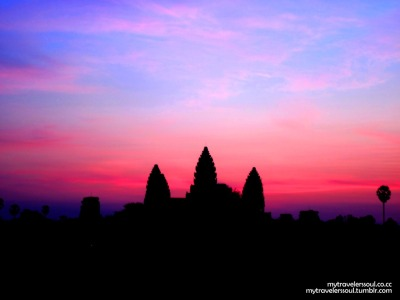 Dawn at Angkor Wat Temple, Siem Riep - Cambodia