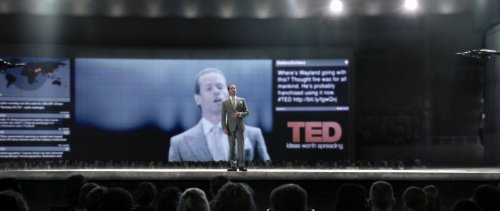 "The highlight of TED thus far appears to be a promo piece for Prometheus, Ridley Scott's quasi-prequel to Alien that is coming out later this year. The promo film was presented as a TED Talk from 2023, it stars Guy Pearce (Memento) and is written by ""Lost"" co-creator Damon Lindelof. Watch the video->"