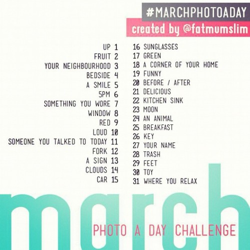 Never done one of these, excite to start tomorrow! #marchphotoaday #Instagram (Taken with instagram)