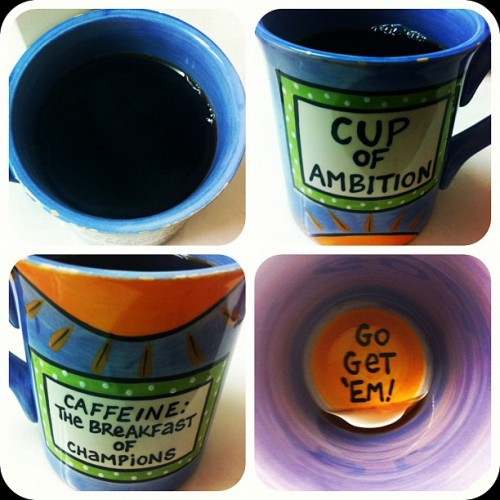 Going to need several cups of ambition to get through today. #coffee #sleepy #struggling (Taken with instagram)
