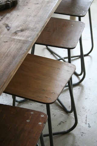quincewithsugar:  Original mid 1900's factory stools from the Ukraine