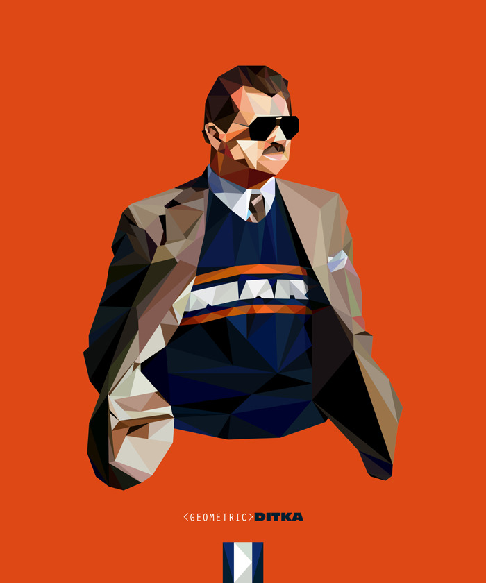 Geometric Ditka | Purchase: Wall Art | T-Shirt