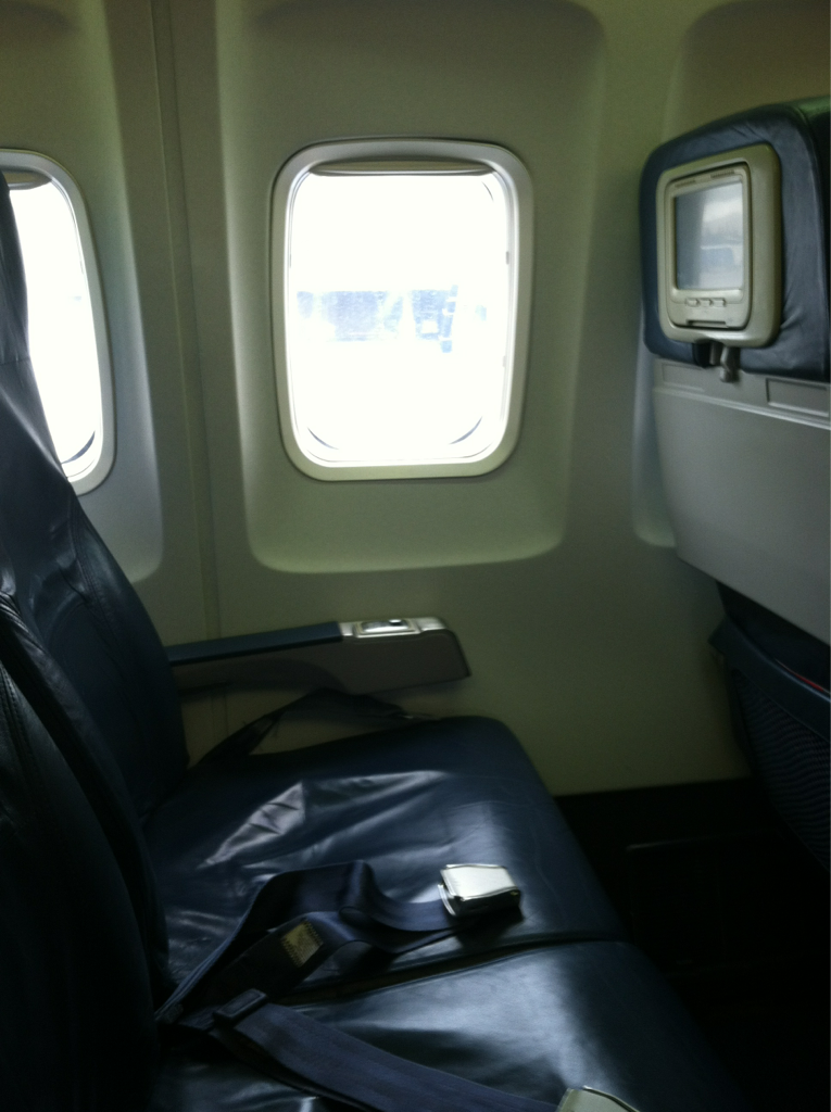 A whole row to myself.   Off to Charleston, SC to shoot for Google.