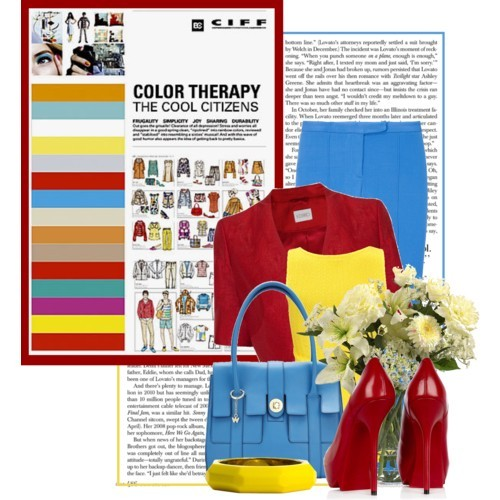 Color Therapy - The Cool Citizens by queenrachietemplateaddict featuring navy jewelry