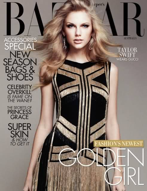 Taylor Swift covers Australia's Harper Bazaar!