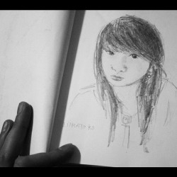 Wednesday: Me, Myself and I #drawing#sketch#myself#me#pinay#art#artwork#asiangirl#instagram#instagood#webstagram#draw#work#hobby#love#like#follow#ipod (Taken with instagram)
