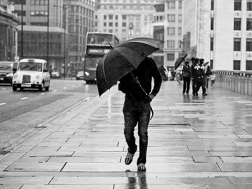Rain Warrior, London Bridge (by theblackstar)