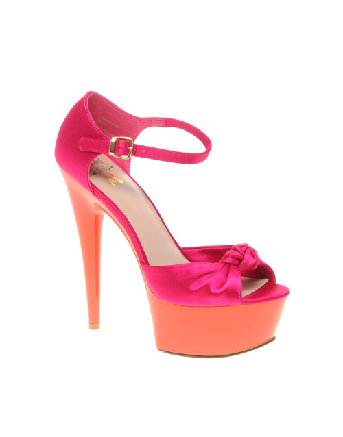 asos bright colour heels