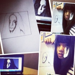 Wednesday: another fail Lady Gaga sketches 😂 #lol#ladygaga#sketches#asiangirl#follow#fail#arts#artwork#schoolwork#drawing#instagood#instagram  (Taken with instagram)