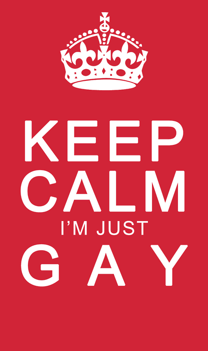 lgbtqgmh:  [KEEP CALM I'M JUST GAY]