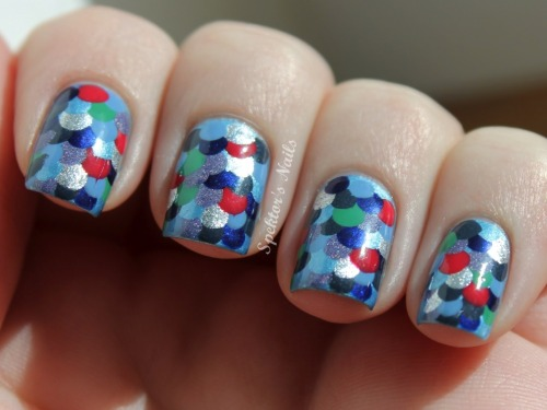 spektorsnails:  Rainbow Fish Nails