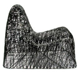dutchdzine:  Random Chair Random Chair is a super-light chair made of carbon fibre. The long fibres are soaked in epoxy resin and coiled over a mould by hand. Once hardened, the construction is self-supporting. Design by Bertjan Pot