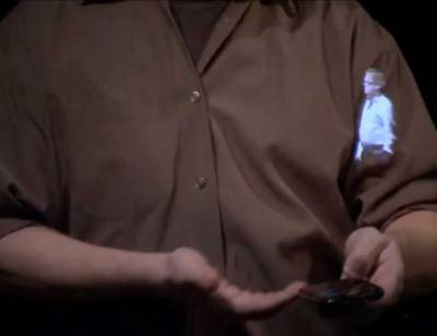 discoverynews:  Princess Leia-Like Hologram Coming Soon At a recent tech forum, Microsoft Research unveiled a prototype of an augmented reality application called Holoflector. The system includes an LCD panel a few feet behind a large,  translucent mirror equipped with a motion-detecting Kinect camera on  top. keep reading  About time, future!