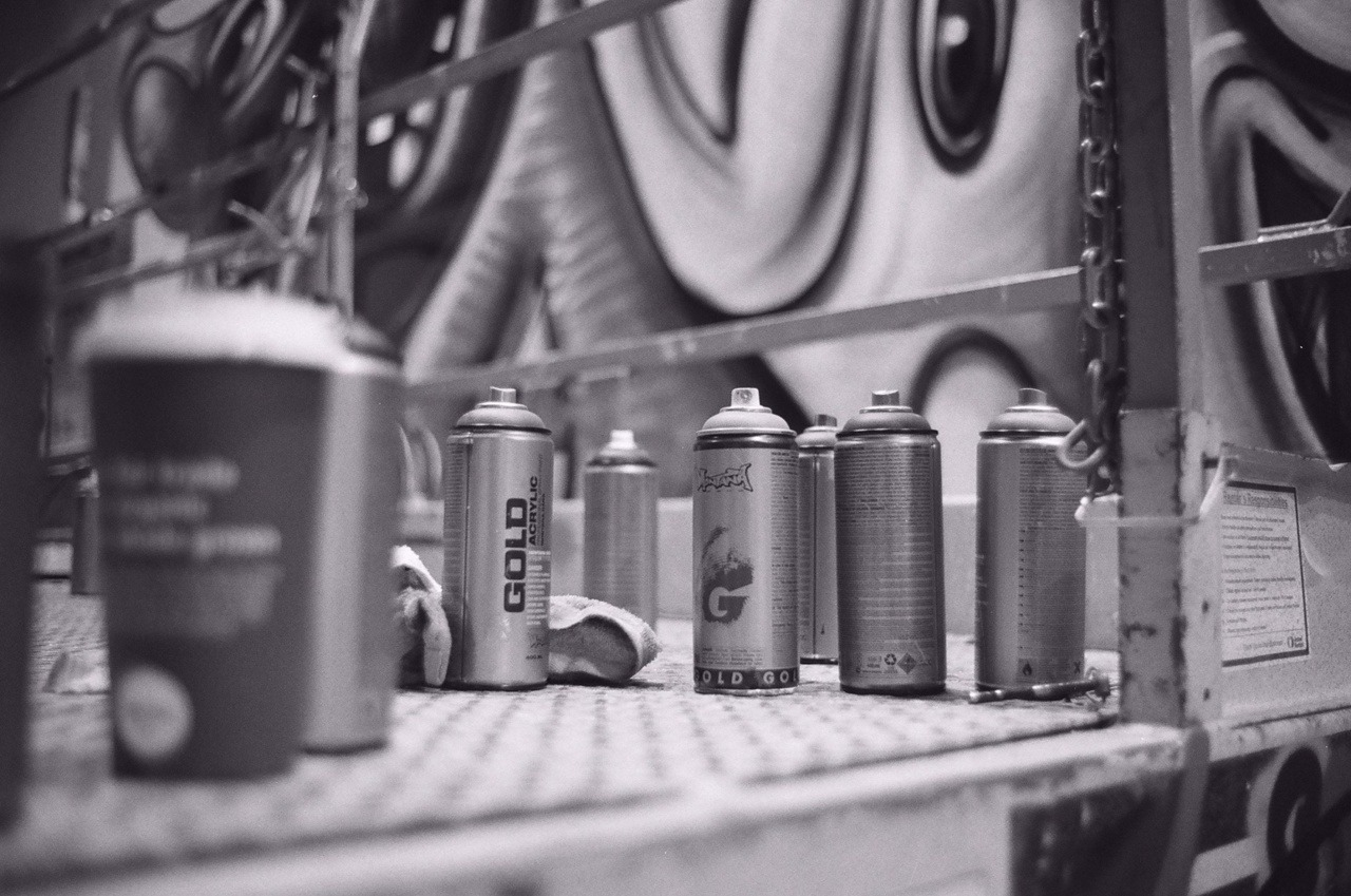 Montana cans in Kenny Scharf Bowery process.