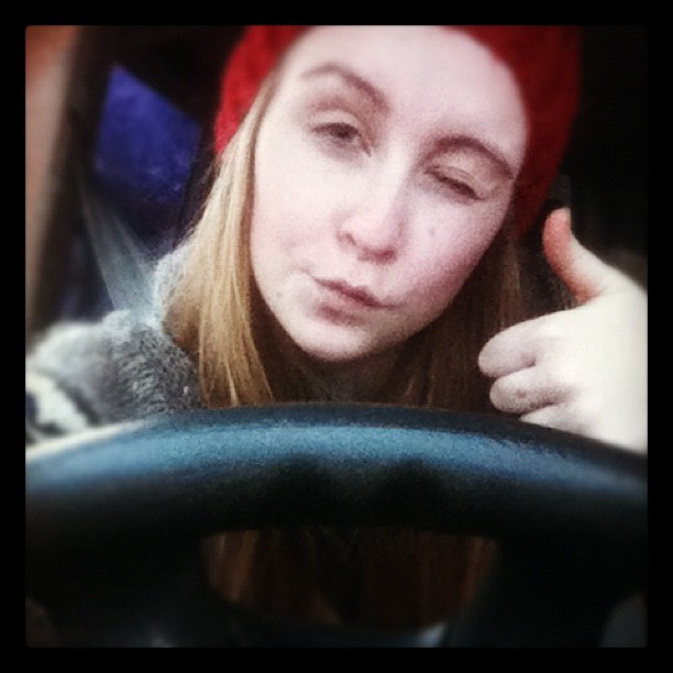 Jepp 2. Time behind the weel! #drivinglessons #girl #my_life #me #watch_out (Taken with instagram)
