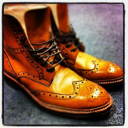teamepiphany:  This is Wingtip Week. Hightop Brogues by Oliver Sweeney (Taken with instagram)