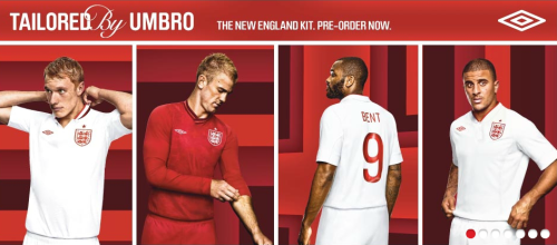 England New Home Kit Euro 2012 D-100