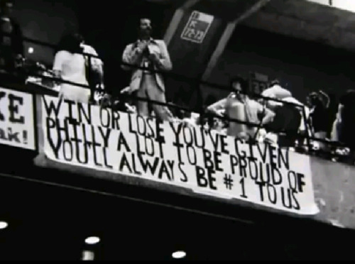 The banner that proclaimed the pride of the Flyers hung off the balcony of the 1976 Stanley Cup Final, after the Broad Street Bullies were defeated by the Montreal Canadians.