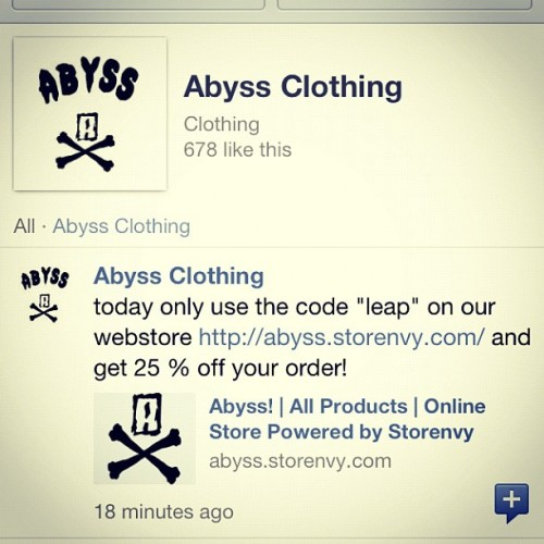 Today only! SAVE MONEY, LOOK GOOD! #abyss #wtf #wednesday  (Taken with instagram)