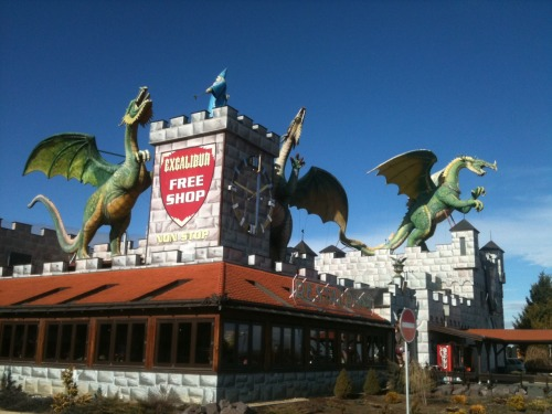 Medieval times gas station in the Czech Republic. Oh so cool and also somehow oh so confusing.