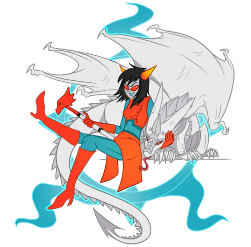 kylobe:  the more I look at this the more unsure I am whether this is terezi or redglare >:I