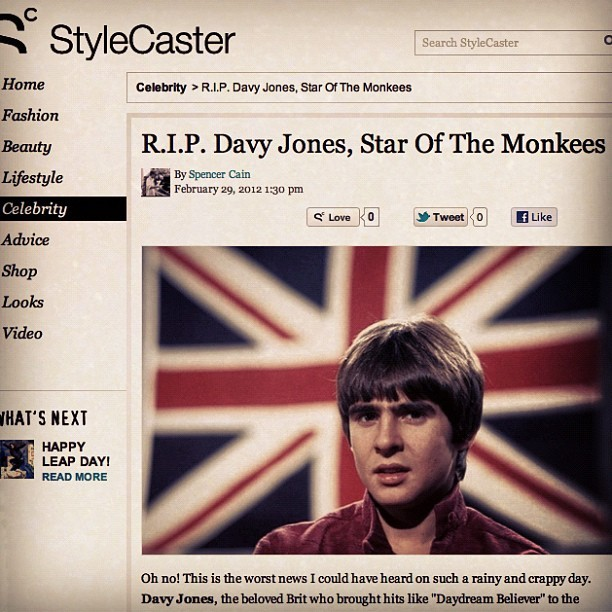 R.I.P. Davy Jones http://bit.ly/yd2D16