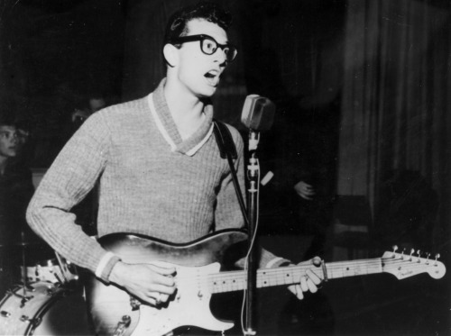 warbyparker:  On Leap Day in 1980, Buddy Holly's signature eyeglasses were found in Iowa—over 20 years after his death. (via)