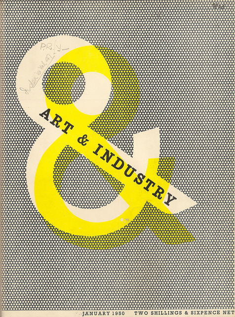 prettyclever:  Art & Industry magazine cover designed by Zero (Hans Schleger) 1950