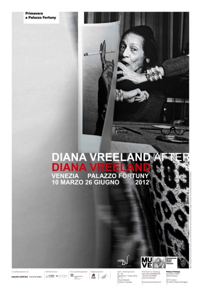 "Diana Vreeland after Diana Vreeland at Palazzo Fortuny  From 10 March to 25 June 2012Fortuny PalaceCurated by: Judith Clark and Maria Luisa FrisaCommissioned by: Lisa Immordino Vreeland   A wonderful exhibition dedicated to Diana Vreeland, fashion icon, famous fashion editor of Harper's Bazaar, editor in chief of Vogue and special consultant for the Costume Institute of the Metropolitan Museum of Art in New York, will be opened on the 10th March 2012 at Palazzo Fortuny in Venice . The first individual exhibition dedicated to the extraordinary and complex figure of Diana Vreeland (Paris, 1903- New York, 1989) will explore the many different aspects of her work and will attempt to offer a fresh approach to interpreting her style and thought. The exhibition will try to restore a sense of the ""magnificent gait"" which marked Vreeland's journey through fashion in the 20th century. The visitor will be able to admire garments straight out of the history of fashion that have been brought to Italy for the first time: numbers by Yves Saint Laurent and Givenchy worn by Diana Vreeland, on loan from the New York Metropolitan Museum of Art; some extraordinary pieces by Balenciaga belonging to the Cristóbal Balenciaga Museum; the most iconic creations of Saint Laurent from the Fondation Pierre Bergé-Yves Saint Laurent, and, finally, precious garments that shaped the history of fashion of the last century, loaned from prestigious private collections and company archives, including numbers by Chanel, Schiaparelli, Missoni, Pucci, and costumes from the ballets. The aim of Diana Vreeland after Diana Vreeland is to decontextualise the many pieces that make up the kaleidoscopic career of the fashion editor and to reconnect them in a new interpretation of the many different meanings that underlie her now legendary professional and life experience. The exhibition will not limit itself to merely displaying the garments, but will ""short-circuit"" time, the articles on show, and their very ""aura"" to show how fashion is a complex phenomenon, and a privileged position from which to observe and interpret the tastes and trends of contemporary society."
