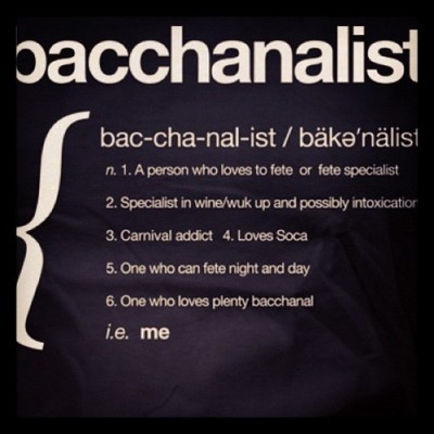 I figured out my sickness! Oh Bacchanal!