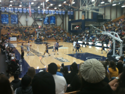 SANTA BARBARA, CA - UCSB Gaucho basketball against UC Riverside with my buddy Daniel. Final score: Gauchos 60, Highlanders 52.