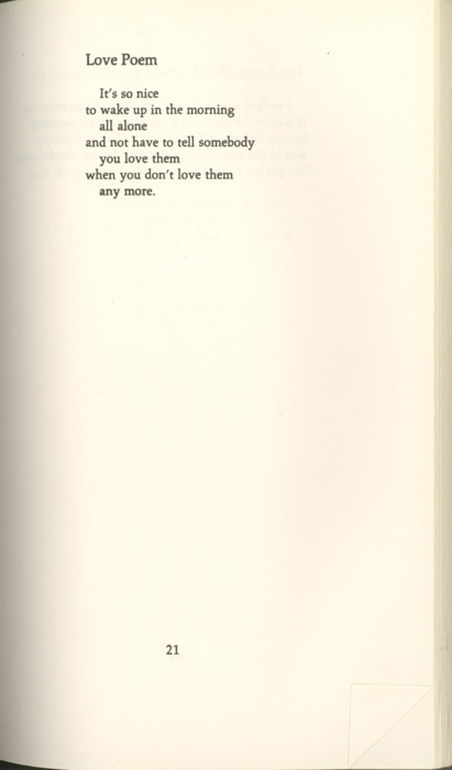 veganmyway:  Richard Brautigan - Love Poem