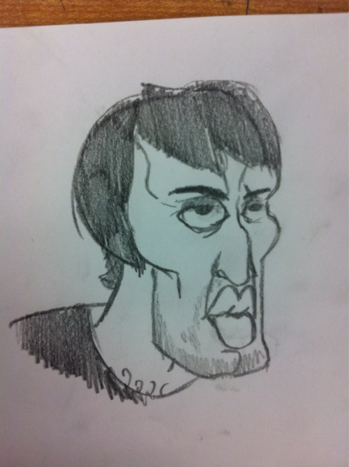 I drew a portrait of Andrew Hussie in art today