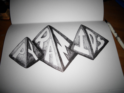 """Pyramids"" from my typography sketchbook"