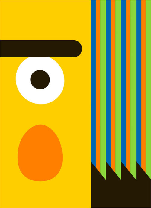 laughingsquid:  Minimalist Bert and Ernie Posters