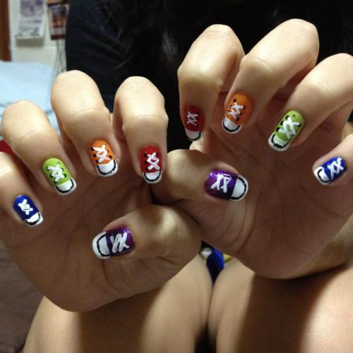Converse nails for my friend :)