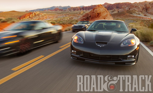 Pick your poison, and power level – the base 2012 Chevrolet Corvette, Grand Sport, Z06 and ZR1. (Source: Road & Track)