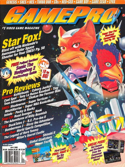 vgjunk:  GamePro magazine Star Fox cover. Look at Falco's eyes, man. He's seen things.