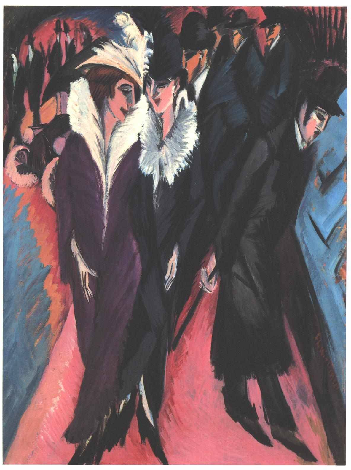 What is Art? Prostitution. -Charles Baudelaire Ernst Ludwig Kirchner,  Street, Berlin (1913)