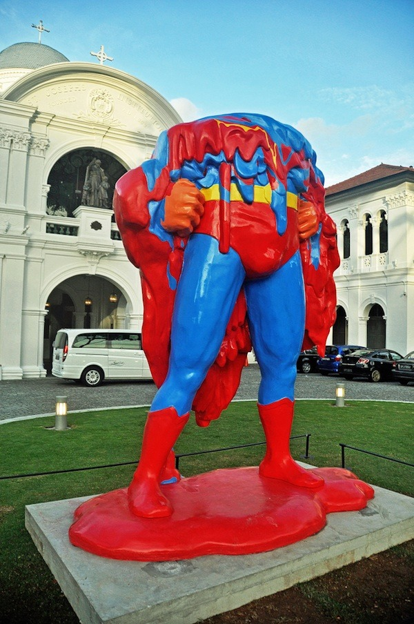 laughingsquid:  No One Can Save Us, A Sculpture of a Melted Superman