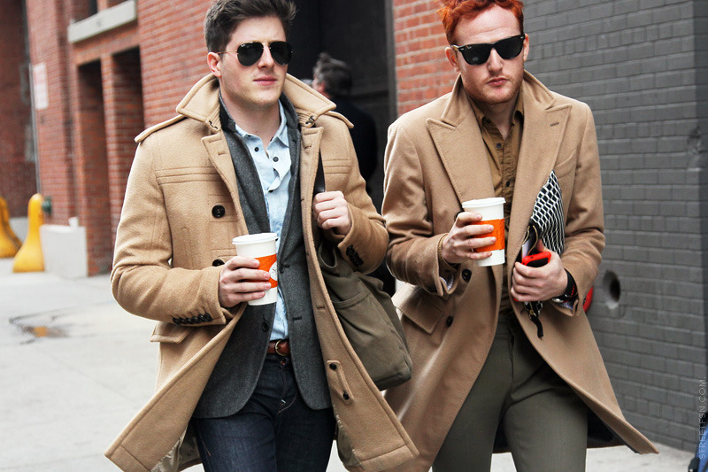 urbanemenswear:  Camel outerwear in NYC