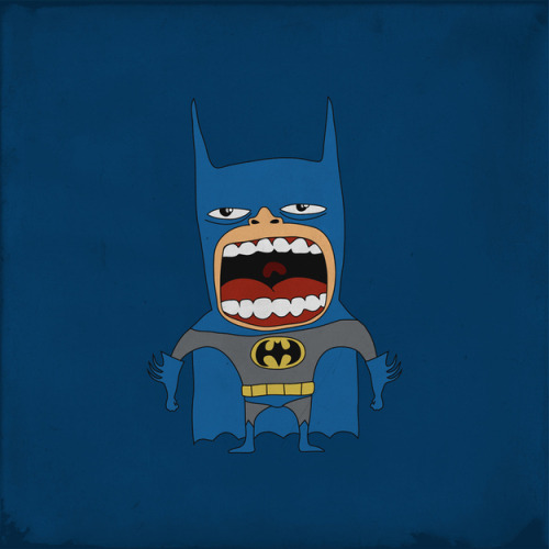 Angry Screaming Heroes - Batman
