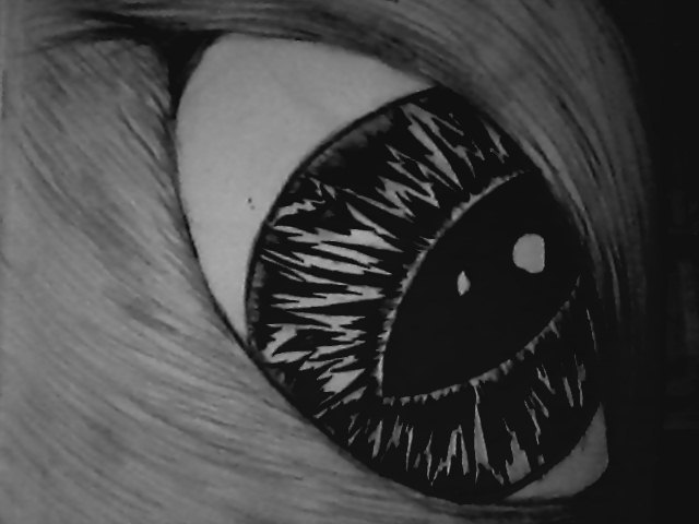 My drawing of a cats eye.