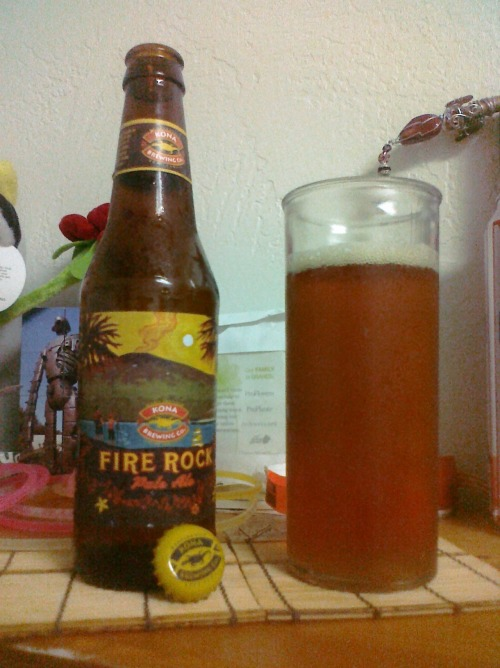 Fire Rock Appearance: Colored like honey. Just a bit of head. Smell: Beer-y. Taste: The usual bitterness that comes with beers, but with more depth. Something citrus-y to it. Mouthfeel: Light carbonation. Fuller than the last couple of beers I've had. Drinkability: Always enjoyed the Kona beers, but never really cared for this one. I think over time, though, and with more beer-consumption, I've started to appreciate this one more than the Longboard. A good beer that went great with my hodgepodge dinner. For Jesus: Past experiences shouldn't completely dictate future ones. I would have never come to like beer if I hadn't kept on exposing myself to it. Just because something seems bad in the beginning, doesn't mean it will always be that way. TL;DR: Above average. Jesus was open-minded.